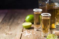 Μεξικάνικο χρυσό Tequila στοκ εικόνα με δικαίωμα ελεύθερης χρήσης