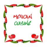 Μεξικάνικο ύφος τροφίμων Μεξικάνικη έννοια κουζίνας Στοκ Εικόνα