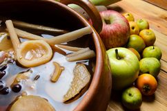 Μεξικανός & x22 ponche& x22  φρούτα Στοκ Εικόνες