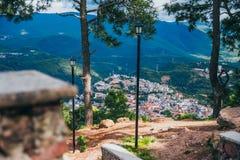 ΜΕΞΙΚΟ - 22 ΣΕΠΤΕΜΒΡΊΟΥ: Άποψη της πόλης από τη σύνοδο κορυφής του μ στοκ εικόνες με δικαίωμα ελεύθερης χρήσης