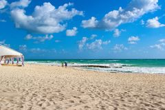Μεξικό Η παραλία του ξενοδοχείου ` Iberostar μεγάλο Paraiso ` στοκ εικόνες με δικαίωμα ελεύθερης χρήσης