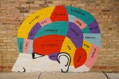 Μεξικό στον εγκέφαλο Στοκ εικόνα με δικαίωμα ελεύθερης χρήσης