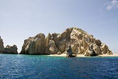Μεξικό - Cabo SAN Lucas - βράχοι και παραλίες Στοκ εικόνα με δικαίωμα ελεύθερης χρήσης