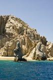 Μεξικό - Cabo SAN Lucas - βράχοι και παραλίες Στοκ Εικόνα