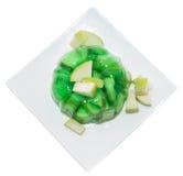 Μερίδα του ζελέ της Apple στο λευκό Στοκ Εικόνες