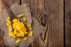 Μερίδα των κίτρινων πιπεριών (που τεμαχίζονται) Στοκ φωτογραφία με δικαίωμα ελεύθερης χρήσης