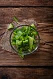 Μερίδα των πράσινων πιπεριών (που τεμαχίζονται) Στοκ εικόνες με δικαίωμα ελεύθερης χρήσης