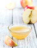 Μερίδα Applesauce (εκλεκτική εστίαση) Στοκ Εικόνες