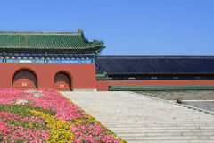 Μερικά βήματα οδηγούν στην πύλη του ναού του ουρανού στο Πεκίνο (Κίνα) Στοκ Εικόνες