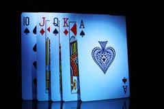 Μερικές από τις κάρτες παιχνιδιού, από δέκα στον άσσο Στοκ εικόνα με δικαίωμα ελεύθερης χρήσης