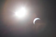 Μερική έκλειψη Solare πέρα από το Ντάλλας Τέξας Στοκ φωτογραφία με δικαίωμα ελεύθερης χρήσης