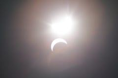 Μερική έκλειψη Solare πέρα από το Ντάλλας Τέξας Στοκ Εικόνες