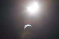 Μερική έκλειψη Solare πέρα από το Ντάλλας Τέξας Στοκ Εικόνα