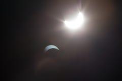 Μερική έκλειψη Solare πέρα από το Ντάλλας Τέξας Στοκ φωτογραφίες με δικαίωμα ελεύθερης χρήσης