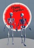 Μερική απεικόνιση εραστών σκελετών Στοκ Εικόνα