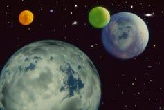 Μερικοί νέοι πλανήτες με τα σύννεφα ελεύθερη απεικόνιση δικαιώματος