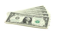 Μερικοί λογαριασμοί σε ένα αμερικανικό δολάριο Στοκ Φωτογραφίες