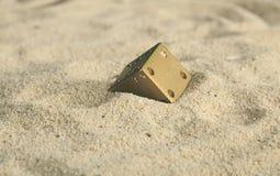 Μερικοί χωρίζουν σε τετράγωνα στους αμμόλοφους άμμου στοκ φωτογραφία