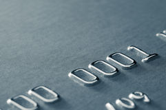 μερικός επάνω πιστωτικού αριθμού καρτών στενός Στοκ Εικόνες