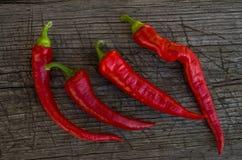 Μερικό κόκκινο - καυτά πιπέρια Στοκ φωτογραφία με δικαίωμα ελεύθερης χρήσης