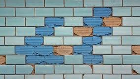 Μερικώς μπλε κεραμίδια Στοκ εικόνα με δικαίωμα ελεύθερης χρήσης