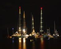 Μεσάνυχτα στη μαρίνα Στοκ Φωτογραφίες
