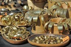 Μεσαιωνικά βραχιόλια χαλκού για την πώληση Στοκ Εικόνες