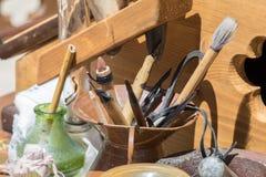 Μεσαιωνικά εργαλεία γραψίματος στοκ φωτογραφία με δικαίωμα ελεύθερης χρήσης