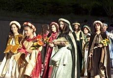 Μεσαιωνικά κορίτσια Στοκ Εικόνα