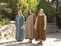 Μεσαιωνικά κορίτσια Στοκ εικόνες με δικαίωμα ελεύθερης χρήσης