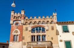 Μεσαιωνικά κτήρια Montecatini Alto, Ιταλία Στοκ φωτογραφίες με δικαίωμα ελεύθερης χρήσης