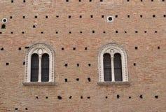 Μεσαιωνικά παράθυρα Στοκ Εικόνες