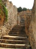 μεσαιωνικά σκαλοπάτια spinalong στοκ εικόνες
