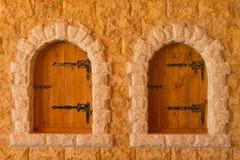 μεσαιωνικά Windows Στοκ φωτογραφία με δικαίωμα ελεύθερης χρήσης
