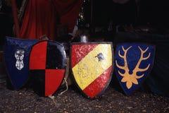 Μεσαιωνικές ασπίδες στη Δανία στοκ φωτογραφία με δικαίωμα ελεύθερης χρήσης