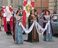 Μεσαιωνικές γυναίκες Στοκ Εικόνα