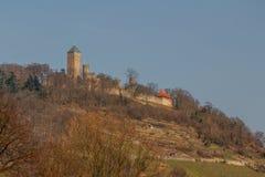 Μεσαιωνικές καταστροφές κάστρων στην πόλη Heppenheim Στοκ εικόνες με δικαίωμα ελεύθερης χρήσης