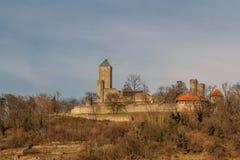 Μεσαιωνικές καταστροφές κάστρων στην πόλη Heppenheim Στοκ Εικόνες