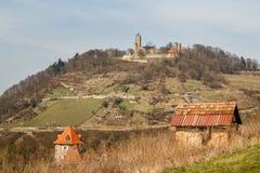 Μεσαιωνικές καταστροφές κάστρων στην πόλη Heppenheim Στοκ Φωτογραφίες