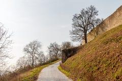 Μεσαιωνικές καταστροφές κάστρων στην πόλη Heppenheim Στοκ φωτογραφία με δικαίωμα ελεύθερης χρήσης