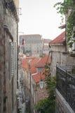 Μεσαιωνικές οδοί σε Dubrovnik Στοκ εικόνες με δικαίωμα ελεύθερης χρήσης