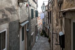 Μεσαιωνικές οδοί σε Dubrovnik Στοκ Εικόνες