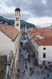 Μεσαιωνικές οδοί σε Dubrovnik Στοκ φωτογραφίες με δικαίωμα ελεύθερης χρήσης