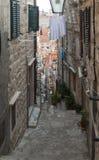 Μεσαιωνικές οδοί σε Dubrovnik Στοκ φωτογραφία με δικαίωμα ελεύθερης χρήσης