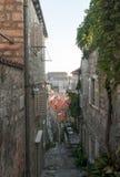 Μεσαιωνικές οδοί σε Dubrovnik Στοκ Φωτογραφία