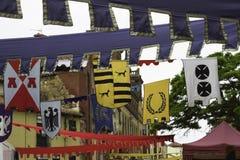Μεσαιωνικές σημαίες Στοκ φωτογραφίες με δικαίωμα ελεύθερης χρήσης