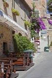 Μεσαιωνική αλέα στην Τοσκάνη στοκ φωτογραφίες με δικαίωμα ελεύθερης χρήσης