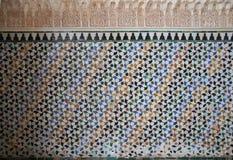 Μεσαιωνική αραβική τέχνη Alhambra Στοκ Φωτογραφίες