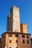 Μεσαιωνική αρχιτεκτονική στην ιστορική πόλη του SAN Gimignano, Τοσκάνη Στοκ φωτογραφία με δικαίωμα ελεύθερης χρήσης