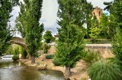 Μεσαιωνική γέφυρα Aranda de Duero, Ισπανία Στοκ φωτογραφία με δικαίωμα ελεύθερης χρήσης